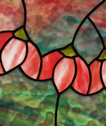 Impressionist Glass Art - Cherry Blossom by David Kennedy