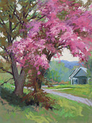Cherry Blossoms Painting Originals - Cherry Blossom by Marsha Savage