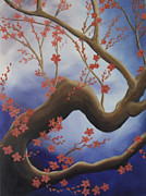 Randall Painting Originals - Cherry Blossom Tree 1 by Randall Brewer