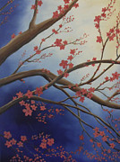 Randall Painting Originals - Cherry Blossom Tree 2 by Randall Brewer