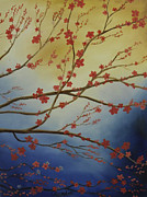 Randall Painting Originals - Cherry Blossom Tree 3 by Randall Brewer