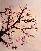 Cherry Blossoms Painting Prints - Cherry Blossoms 2 Print by Barbara Griffin