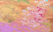 Cherry Blossoms Painting Prints - Cherry Blossoms by Pink River Print by Naomi Susan Schwartz Jacobs