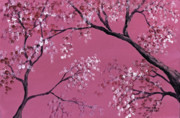 Cherry Blossoms Painting Posters - Cherry Blossoms  Poster by Darice Machel McGuire