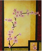 Cherry Blossoms Painting Metal Prints - Cherry Blossoms Metal Print by Dawn Grice