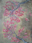 Cherry Blossoms Painting Prints - Cherry Blossoms Print by Diana Barbieux