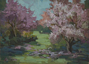 Cherry Blossoms Painting Metal Prints - Cherry Blossoms Metal Print by Diane McClary