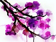 Cherry Blossoms Painting Prints - Cherry Blossoms Print by Jessica Buhman