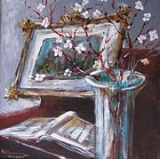 Cherry Blossoms Paintings - Cherry Blossoms by Marc L Gagnon