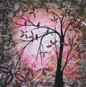 Silhouette Painting Posters - Cherry Blossoms Poster by Megan Duncanson