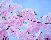 Cherry Blossoms Painting Prints - Cherry Blossoms Print by Melissa Torres