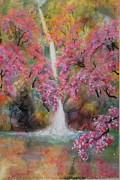 Cherry Blossoms Painting Prints - Cherry BLossoms Print by Ming Franz