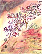 Cherry Blossoms Painting Metal Prints - Cherry Blossoms Metal Print by Monica Mitchell