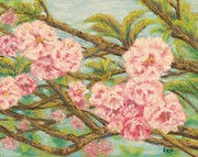 Cherry Blossoms Painting Metal Prints - Cherry Blossoms Metal Print by Rebecca Prough