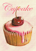 Bakery Digital Art - Cherry Cupcake by Jane Schnetlage