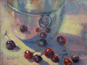 Donna Shortt Painting Posters - Cherry Escape Poster by Donna Shortt