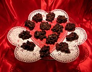 Cherry Pecan Chocolates Print by Judyann Matthews