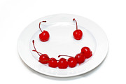 Mouth Prints - Cherry Smile Print by Amy Cicconi