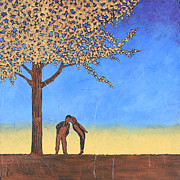 Couple In Love Paintings - Cherry Tree by Bob and Marie Bretz