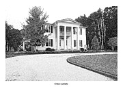 Stippling Framed Prints - CHERRYDALE -  Architectural Rendering Framed Print by Andrew Wells
