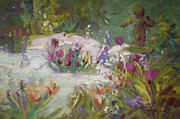 Phlox Painting Prints - Cherub Print by Dorothy Fagan
