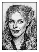 Author Drawings Metal Prints - Cheryl Ladd in 1977 Metal Print by J McCombie