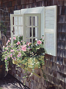 Atlantic Beaches Painting Prints - Cheryls Window Print by OMalley Keyes