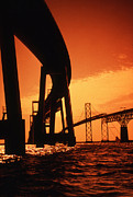 Chesapeake Bay Bridge Framed Prints - Chesapeake Bay Bridge Framed Print by Skip Willits