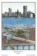 Baltimore Drawings Metal Prints - Chesapeake Bounty 4 Metal Print by Jonathan Brown