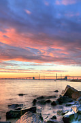 Chesapeake Bay Bridge Framed Prints - Chesapeake Mornings  Framed Print by JC Findley