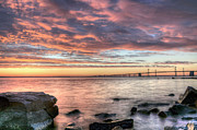 Chesapeake Bay Bridge Framed Prints - Chesapeake Splendor  Framed Print by JC Findley