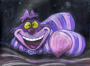 Alice In Wonderland Pastels - Cheshire Cat by Andrew Fling