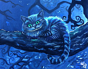 Alice Wonderland Wonderland Paintings - Cheshire Cat by Tom Carlton