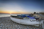 Chesil Beach Prints - Chesil Beach Print by Helen Hotson