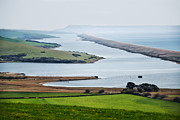 Chesil Beach Prints - Chesil Beach Overlook Print by Susie Peek-Swint