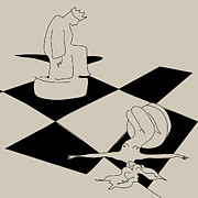 Checkmate Prints - Chess and Art Print by Frida  Kaas