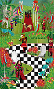Chess Queen Digital Art Prints - Chess Festival Print by Gabriela Delgado