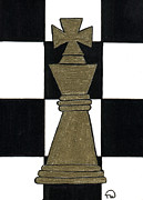 Chess Piece Painting Posters - Chess King Poster by Tambra Wilcox