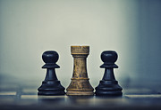 Thinking Back Posters - Chess pieces three Poster by Arisha Singh
