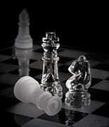Checkmate Prints - Chess Pieces Print by Vicki McLead