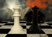 Liam Liberty - Chess Pieces - White Vs Black - Good Vs Evil