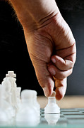 Chess Piece Photo Posters - Chess Player Poster by Jana Behr