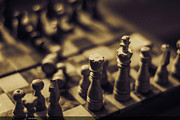 Chessmaster Print by Diaae Bakri