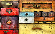 Chest Mixed Media Framed Prints - Chest Of Drawers Framed Print by Michal Boubin