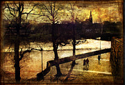 River Dee Prints - Chester Riverwalk Print by Mal Bray