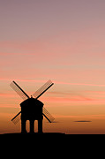 Silhouetted Posters - Chesterton Windmill Poster by Anne Gilbert