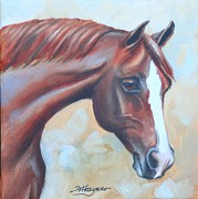 Chestnut Horse Paintings - Chestnut Horse by Willa Frayser