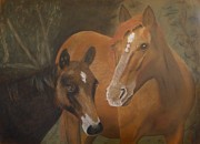 David Hawkes - Chestnut Mare and Foal