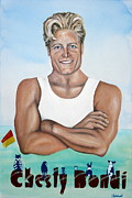 Bondi Paintings - Chesty Bondi - Bondi Vet by Lyndsey Hatchwell