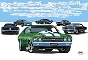 Chevelle 2 Print by DARRYL McPHERSON